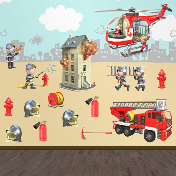 Stickers for Kids: Firefighters Kit