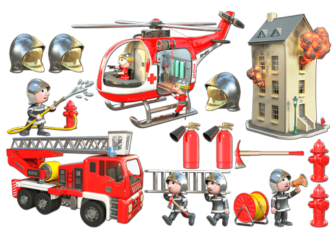 Stickers for Kids: Kit Firefighters