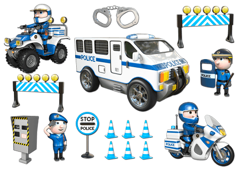 Stickers for Kids: Kit Police 1