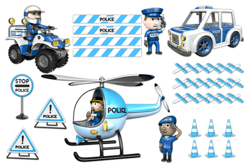 Stickers for Kids: Kit Police 2