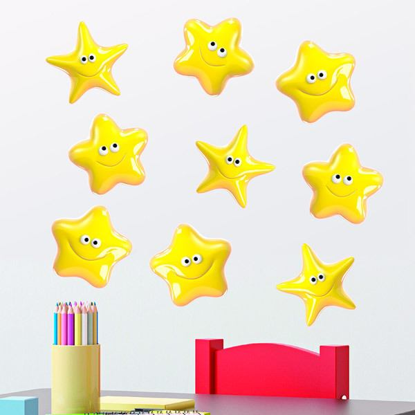 Stickers for Kids: Kit yellow stars