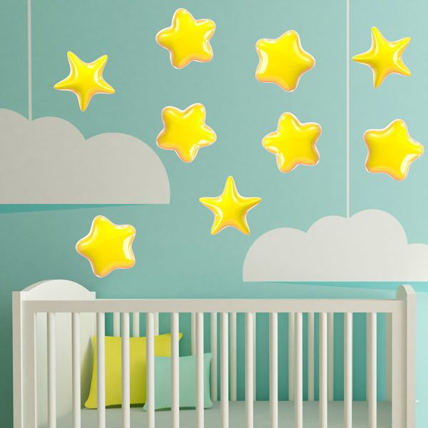 Stickers for Kids: Kit yellow stars 2