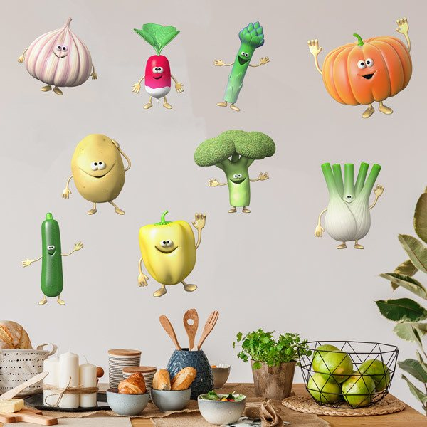 Wall Stickers: Set 9X Vegetables