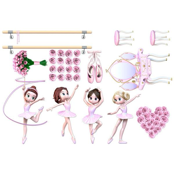 Stickers for Kids: Kit dancers