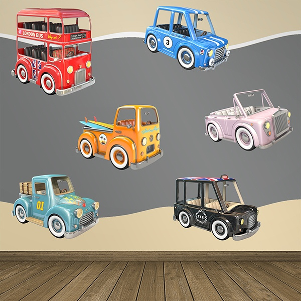 Stickers for Kids: Classic children's car kit