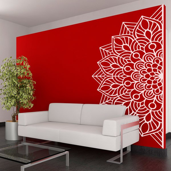 Wall Stickers: Half Mandala Life