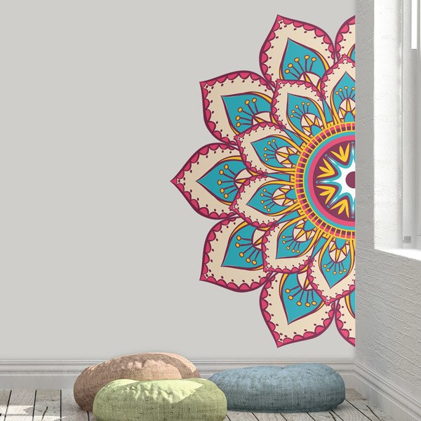 Wall Stickers: Relaxing Half Mandala