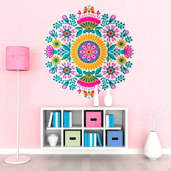 Wall Stickers: Birds and Flowers Mandala