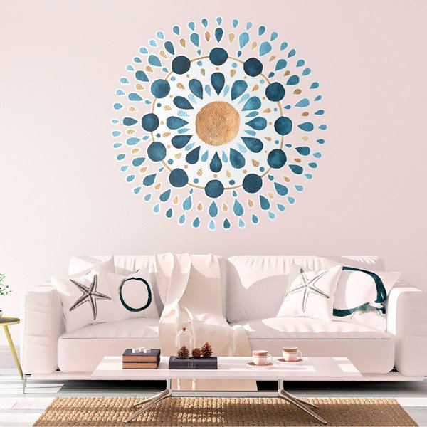 Wall Stickers: Blue Drops Mandala