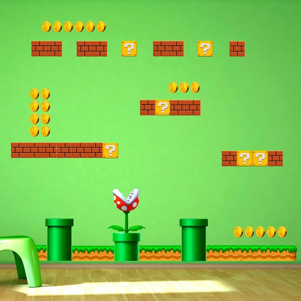 Stickers for Kids: Set 45X Mario Bros Create your Screen