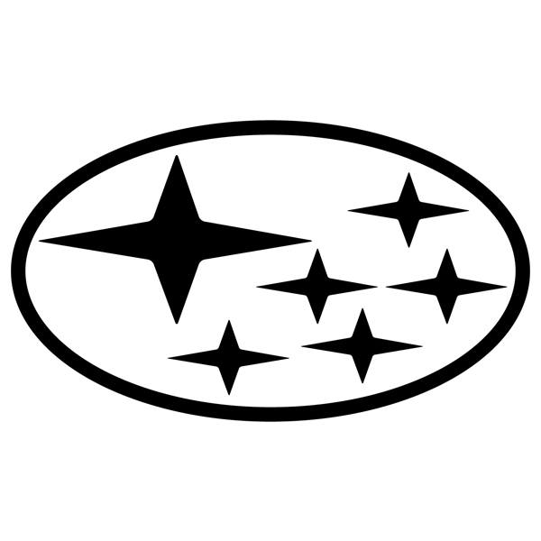 Car and Motorbike Stickers: Logo Subaru