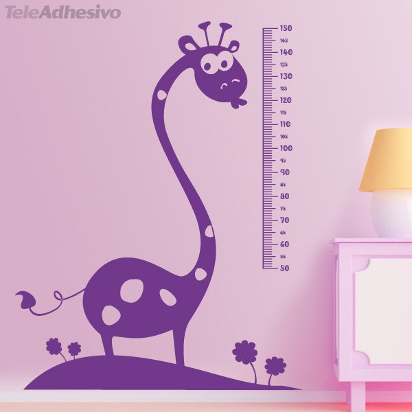 Stickers for Kids: Height Chart African giraffe