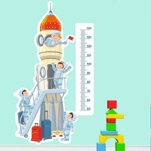 Stickers for Kids: Height Chart Space shuttle