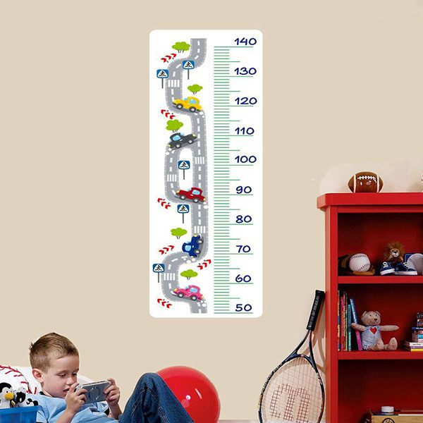 Stickers for Kids: Height Chart road and cars