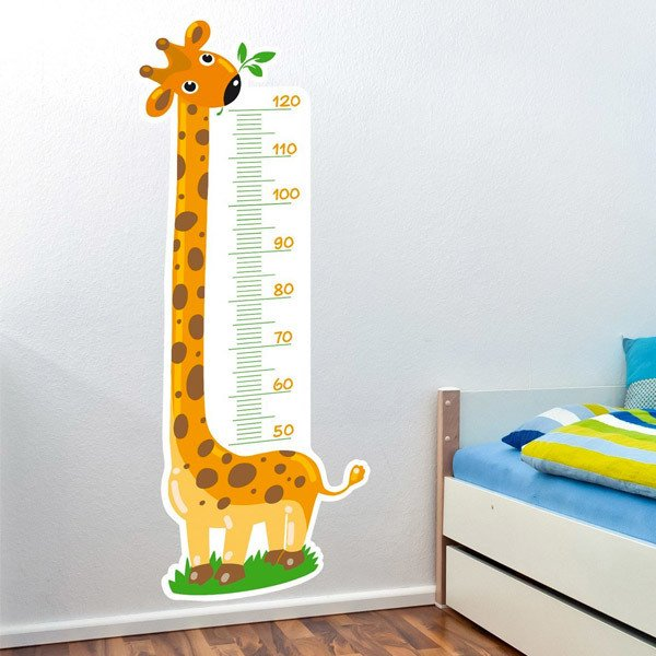Stickers for Kids: Grow Chart nice giraffe