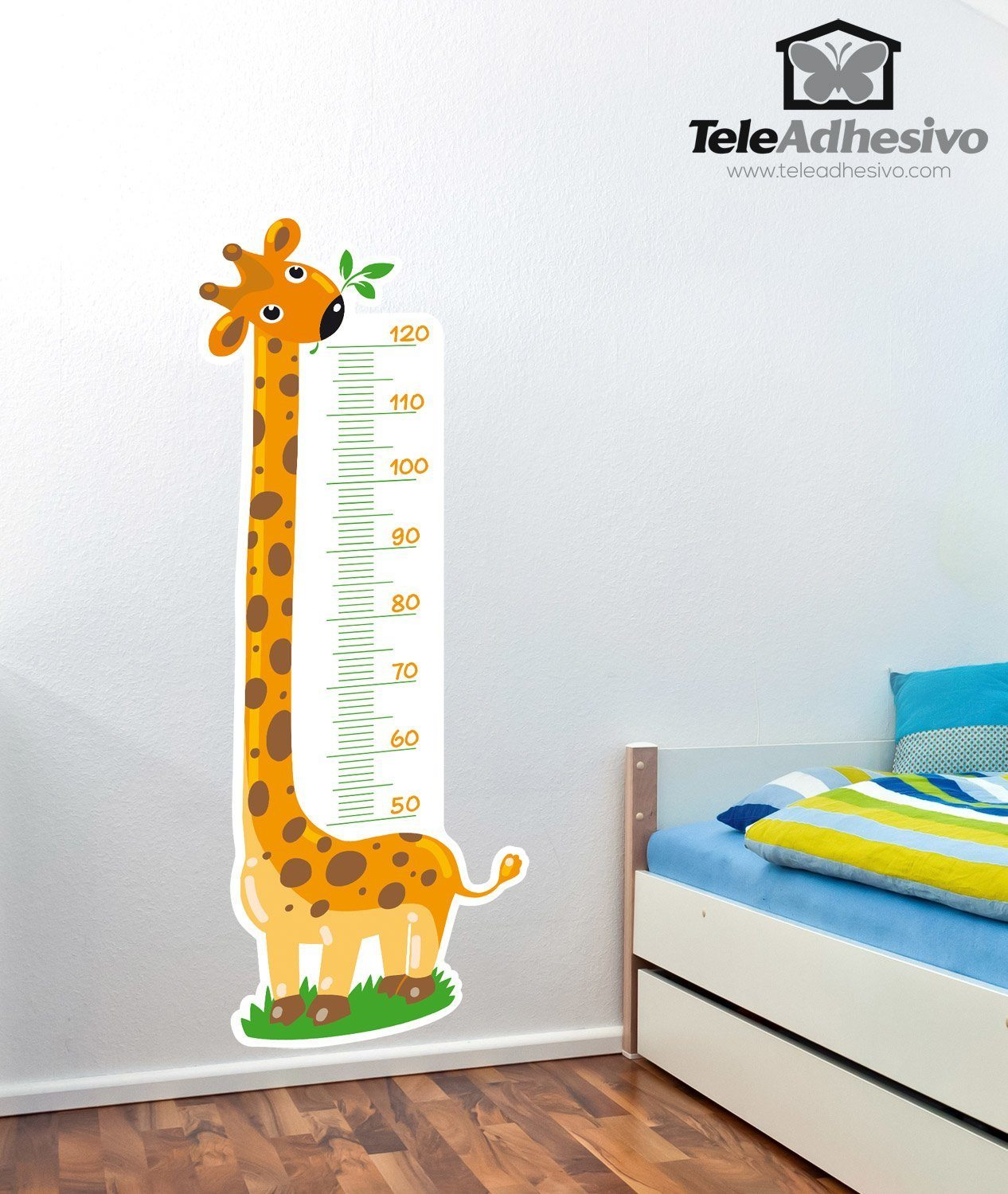 Stickers for kids meter giraffe 3 - Stickers girafe chambre bebe ...