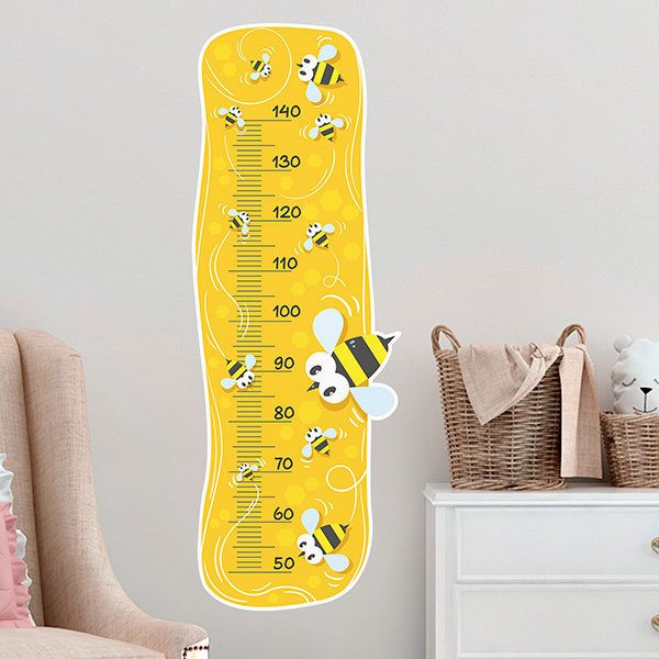 Stickers for Kids: Height Chart  Bees