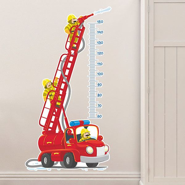 Stickers for Kids: Height Chart Fire Truck