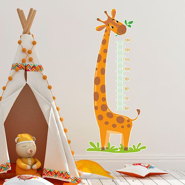 Stickers for Kids: Grow Chart Giraffe eating