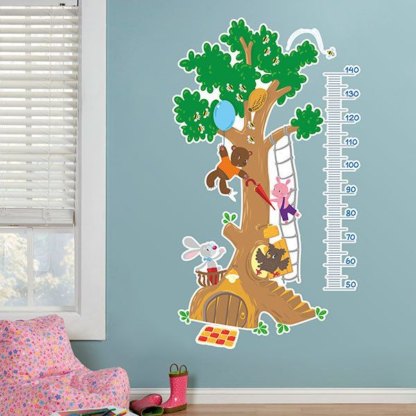 Stickers for Kids: Kid's meter Tree of animals