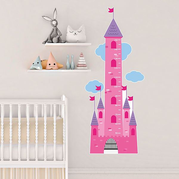 Stickers for Kids: Grow Chart Tower of the castle