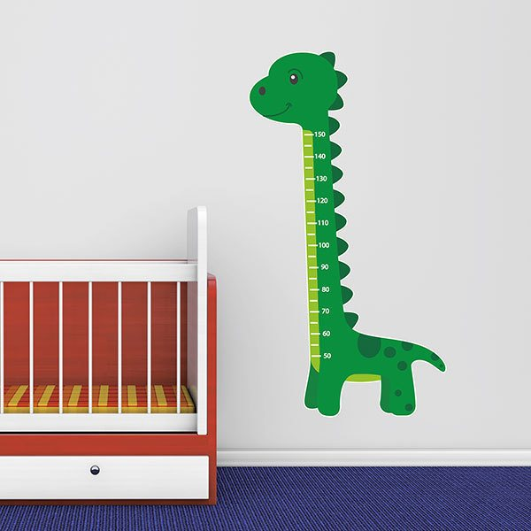 Stickers for Kids: Height Chart Green Dinosaur