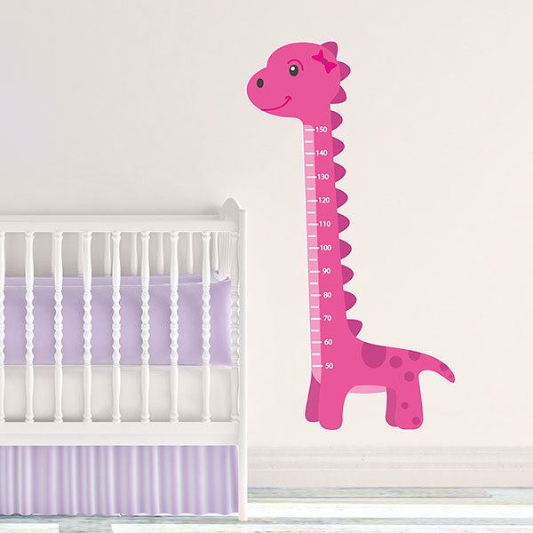 Stickers for Kids: Height Chart Pink Dinosaur