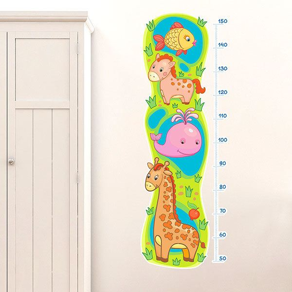 Stickers for Kids: Height Chart Animaux atteints