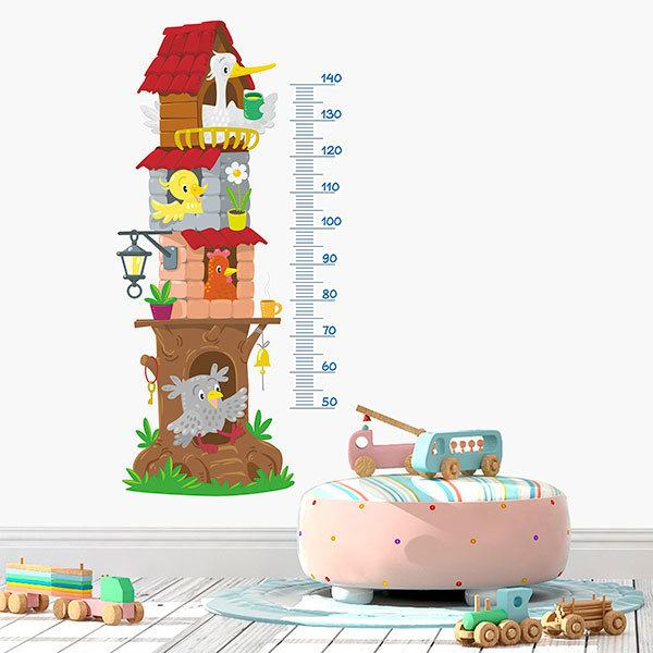Stickers for Kids: Height Chart Animals building
