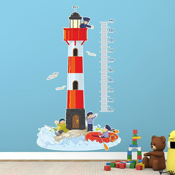 Stickers for Kids: Grow Chart Maritime lighthouse