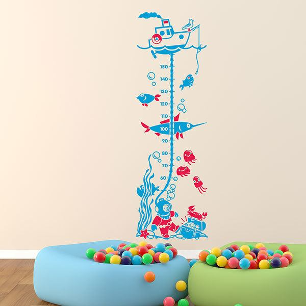 Stickers for Kids: Grow Chart Diver under the sea