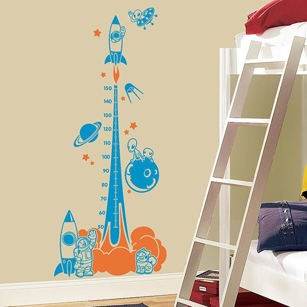 Stickers for Kids: Height Chart Rocket to the universe