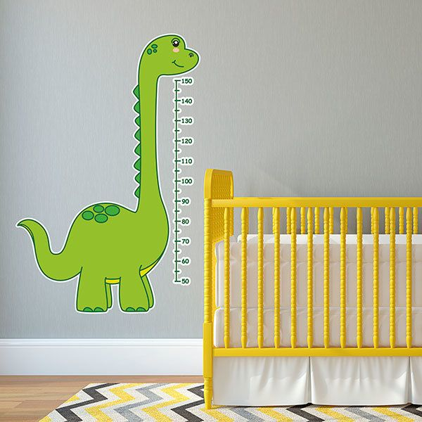 Stickers for Kids: Height Chart Diplodocus
