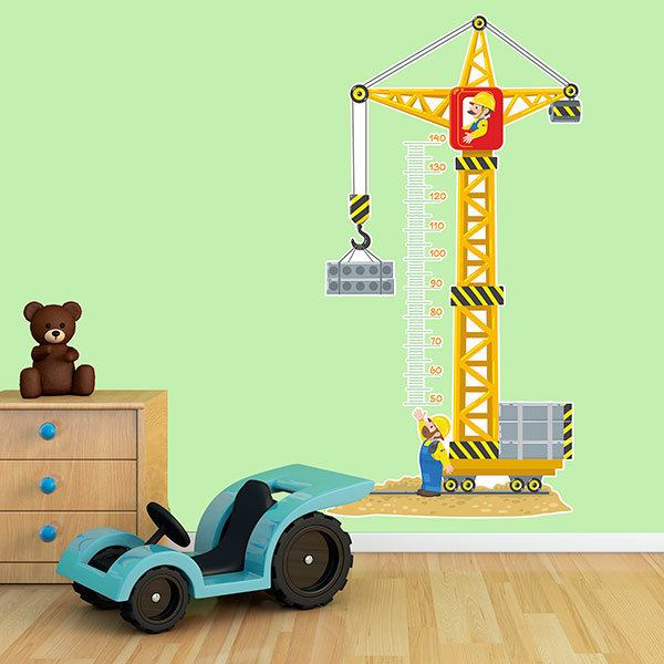 Stickers for Kids: Grow Chart Construction crane