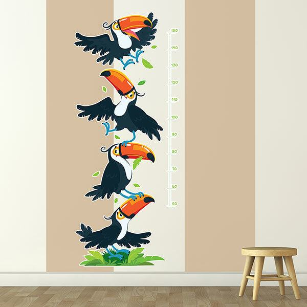 Stickers for Kids: Height Chart Tower of toucans