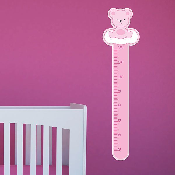 Stickers for Kids: Height Chart pink bleu