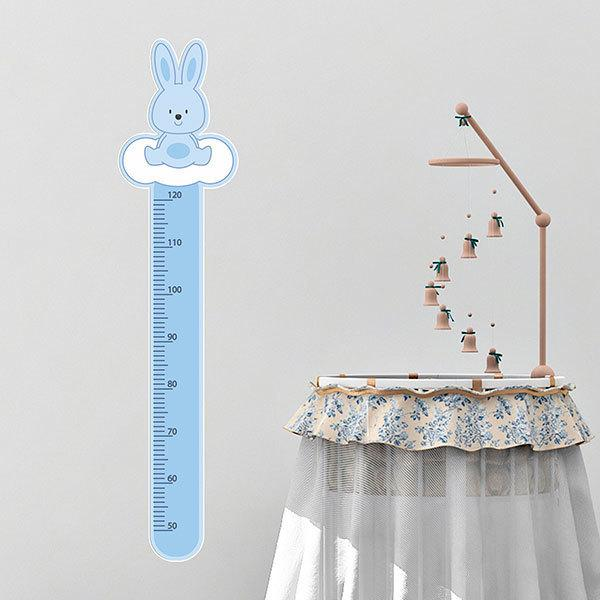 Stickers for Kids: Kid's meter Blue rabbit