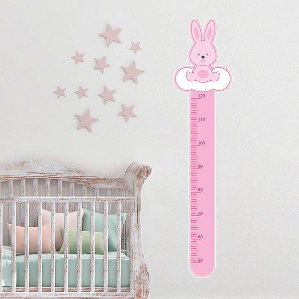 Stickers for Kids: Height Chart pink rabbit