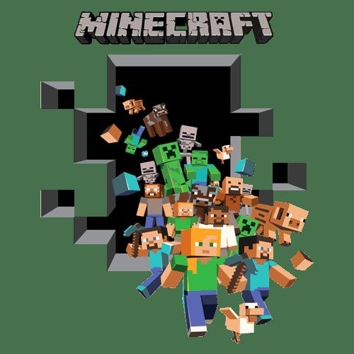 Minecraft vinyl wall graphics mining 2-pack uk