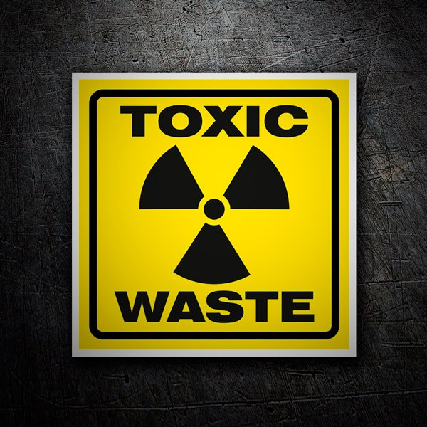 Car & Motorbike Stickers: Sticker sign Toxic waste