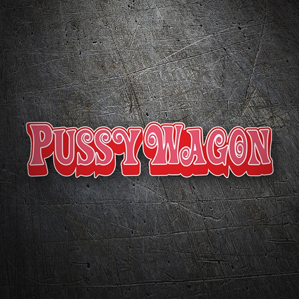 Car & Motorbike Stickers: Pussy Wagon