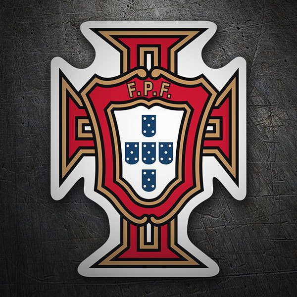 Car & Motorbike Stickers: Portugal - Football Shield