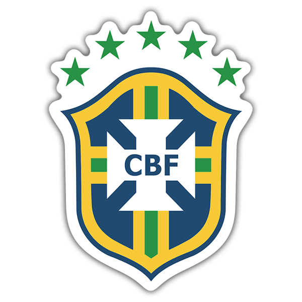 Car & Motorbike Stickers: Brazil - Football Shield
