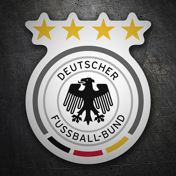 Car & Motorbike Stickers: Germany - Football Shield