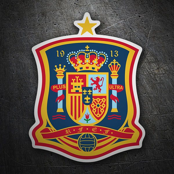 Car & Motorbike Stickers: Spain - Football Shield