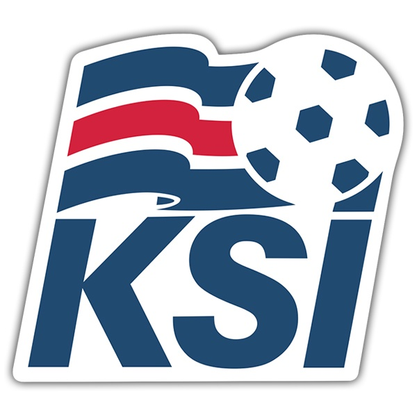Car & Motorbike Stickers: Iceland - Football Shield