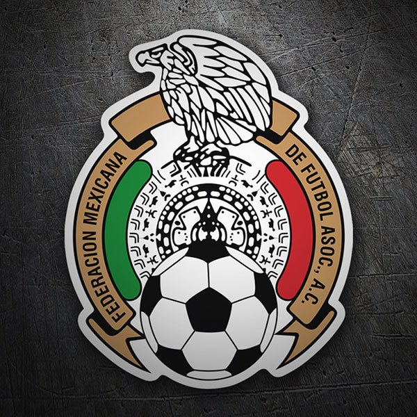 Car & Motorbike Stickers: Mexico - Football Shield