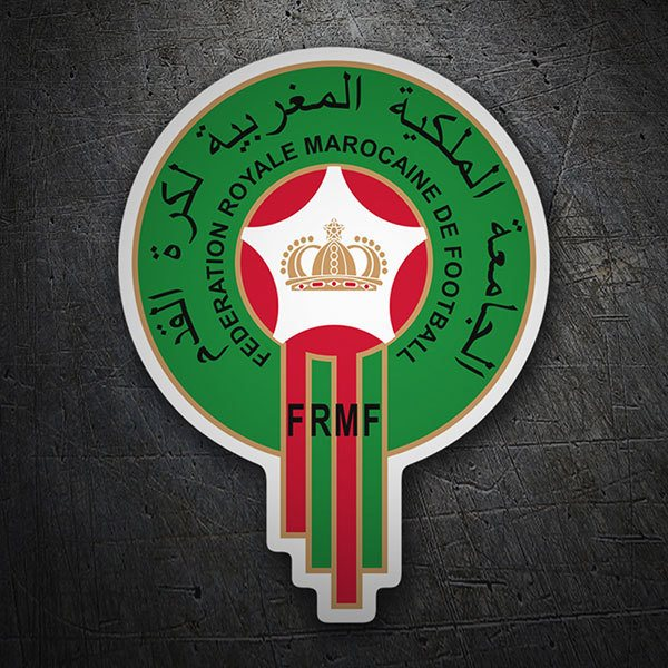 Car & Motorbike Stickers: Morocco - Football Shield 1