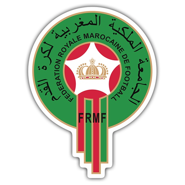 Car & Motorbike Stickers: Morocco - Football Shield