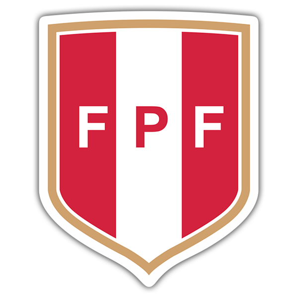 Car & Motorbike Stickers: Peru - Football Shield